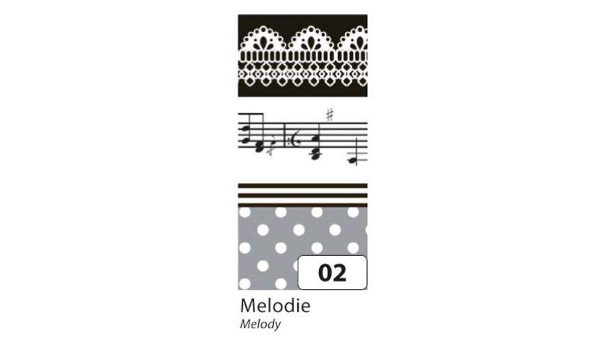 folia Washi Tape Melodie 4er Set
