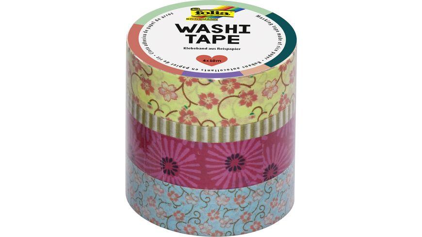 folia Washi Tape Blumenreigen 4er Set