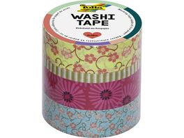 folia Washi Tape Blumenreigen 4er Set
