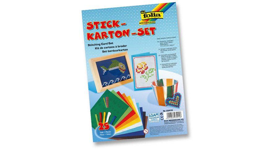 folia Stickkarton Set 25 tlg