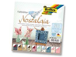 folia Faltblaetter Nostalgia 50 Blatt 15 x 15 cm