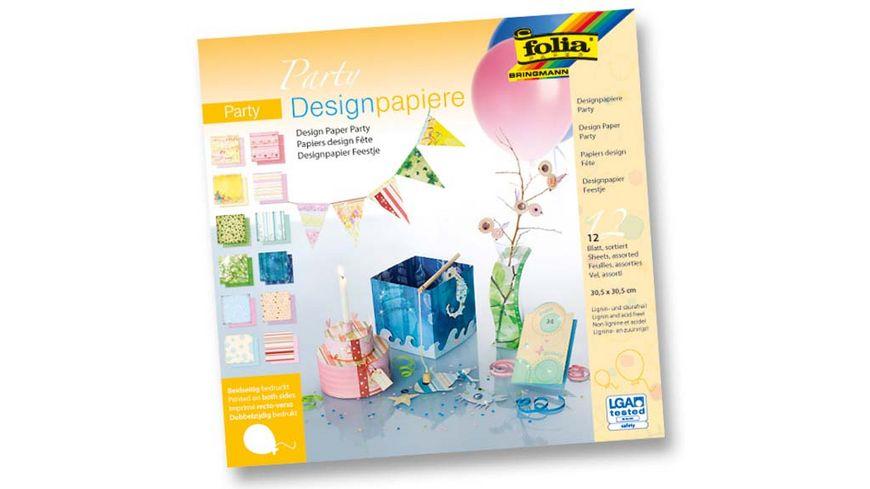 folia Designpapierblock Party 12 Boegen 30 5 x 30 5 cm