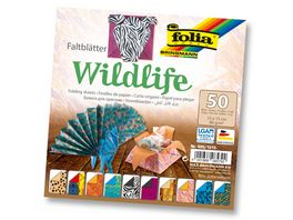 folia Faltblaetter Wildlife 50 Blatt 15 x 15 cm