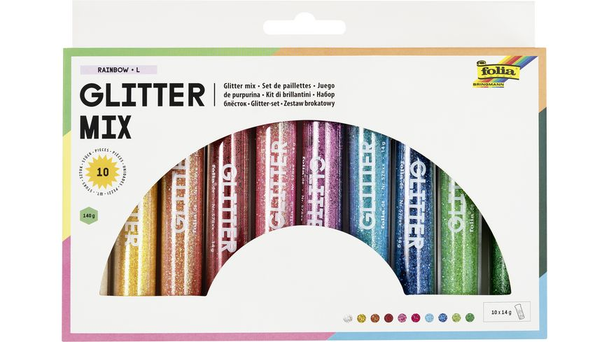 folia Glitterpulver 10 Tuben a 14g