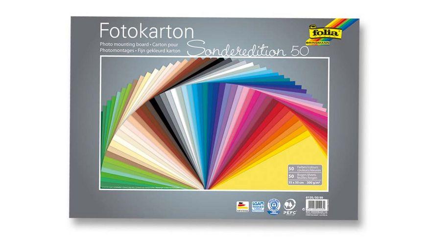 folia Fotokarton 50 Boegen 35 x 50 cm