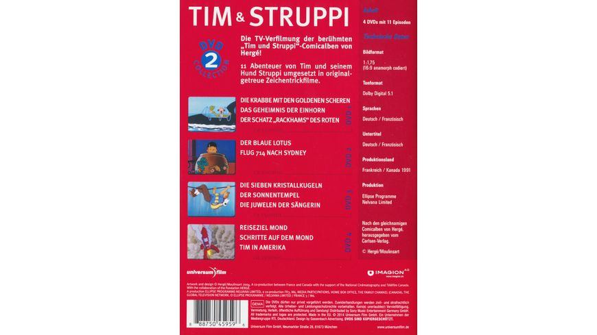 Tim Struppi Collection 2 4 DVDs
