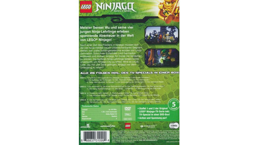 LEGO Ninjago DVD Box 4 DVDs