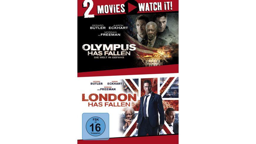 Olympus Has Fallen Die Welt in Gefahr London Has Fallen 2 DVDs