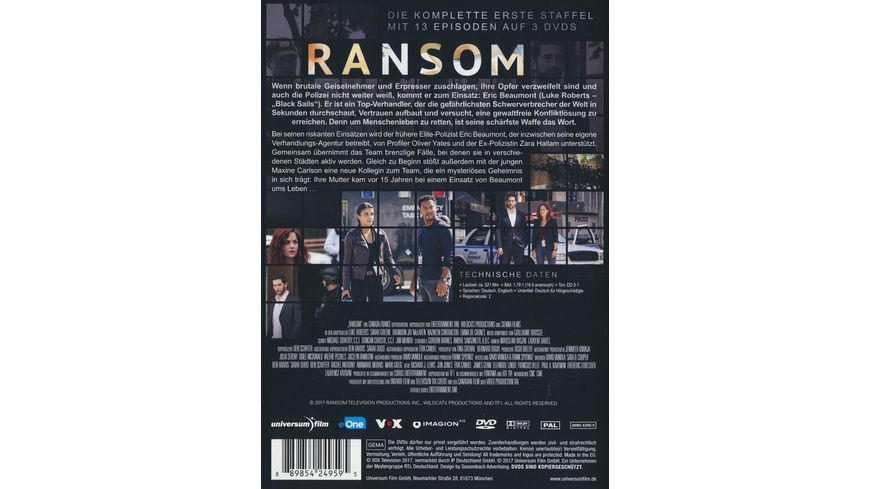 Ransom Staffel 1 3 DVDs