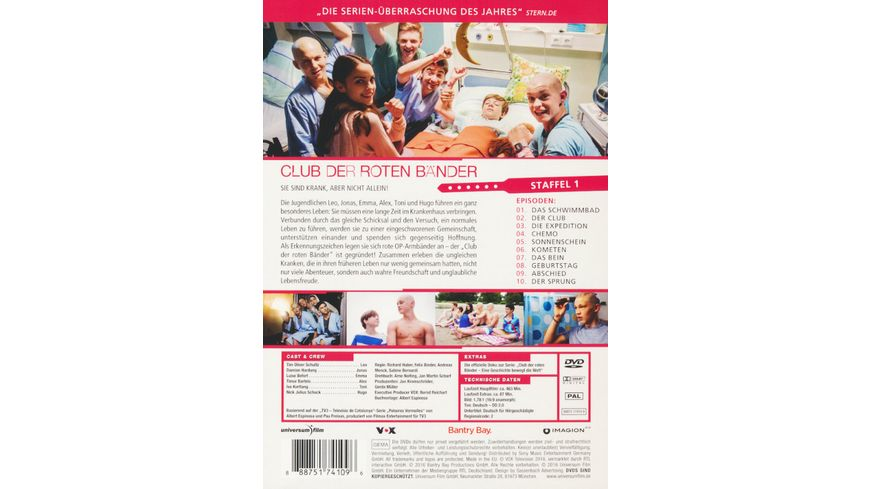 Club der roten Baender Staffel 1 3 DVDs