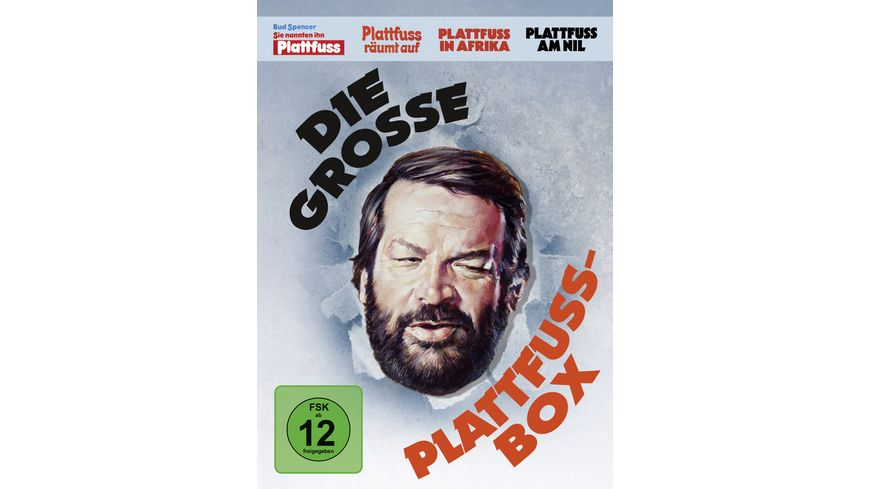 Bud Spencer Die grosse Plattfuss Box 4 DVDs Remastered Version