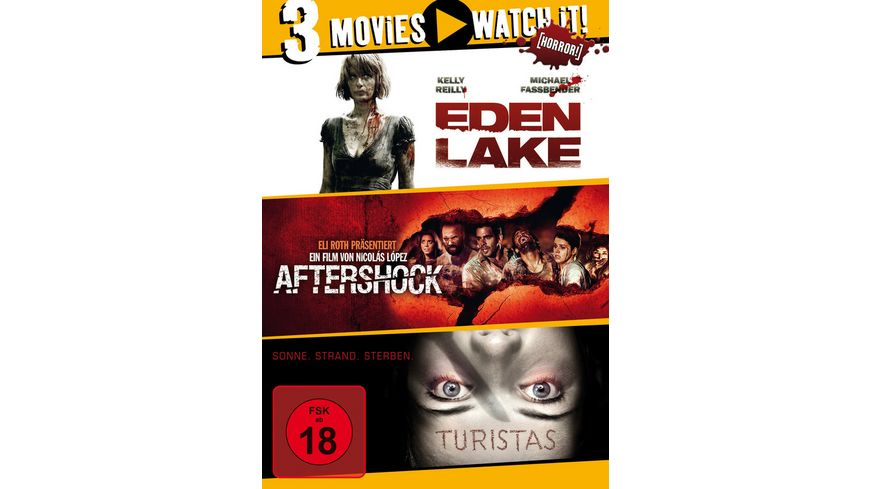 Eden Lake Aftershock Turistas 3 DVDs