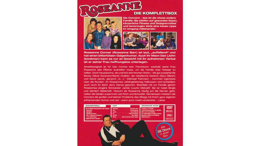 Roseanne Staffel 1 9 Komplettbox 36 DVDs