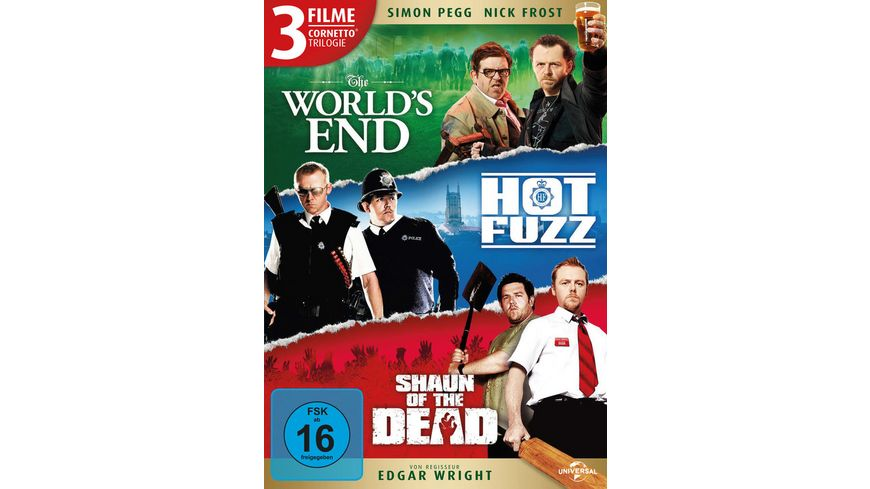 Cornetto Trilogie 3 DVDs