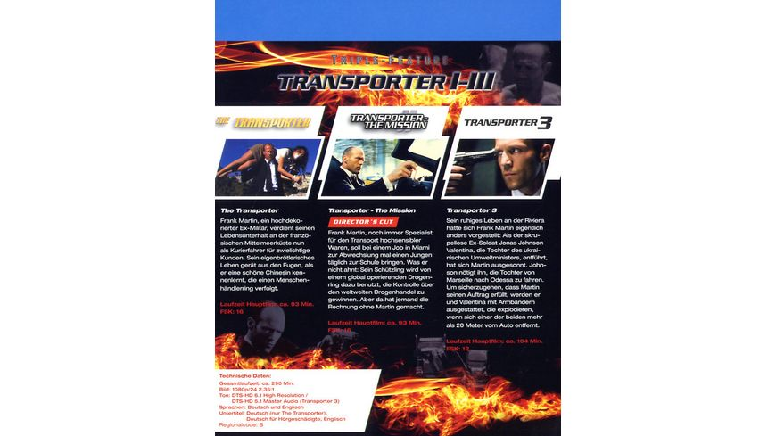 Transporter 1 3 Triple Feature 3 BRs