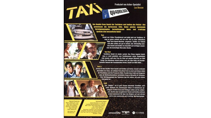 Taxi Teil 1 4 Box Qu4drilogie 4 DVDs