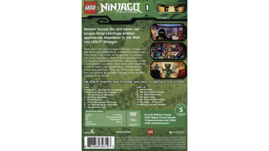 LEGO Ninjago Staffel 1 2 DVDs