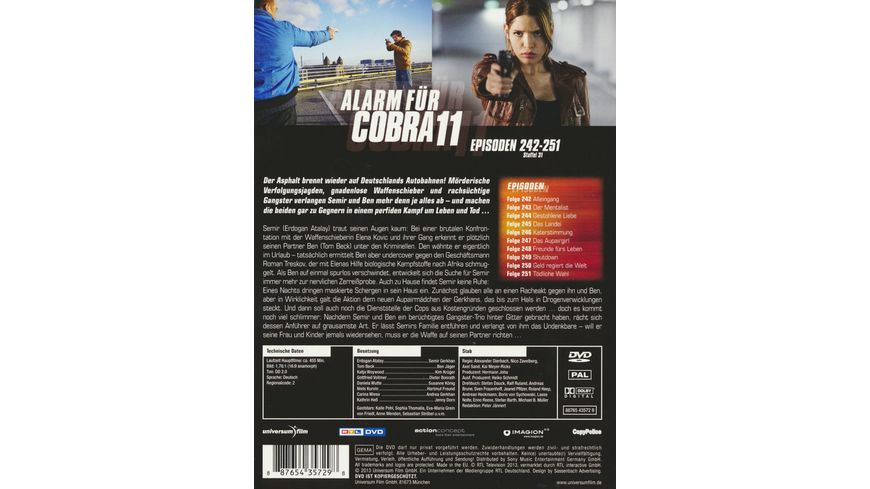 Alarm fuer Cobra 11 Staffel 31 2 DVDs