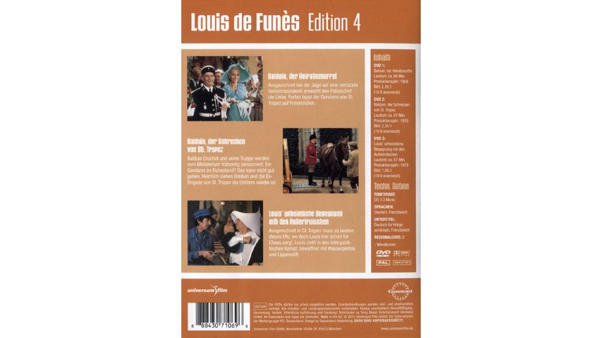 Louis de Funes Edition 4 3 DVDs