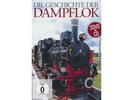 Die Geschichte der Dampflok 2 DVDs CD