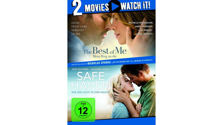 The Best of Me Mein Weg zu dir Safe Haven Wie ein Licht in der Nacht 2 DVDs