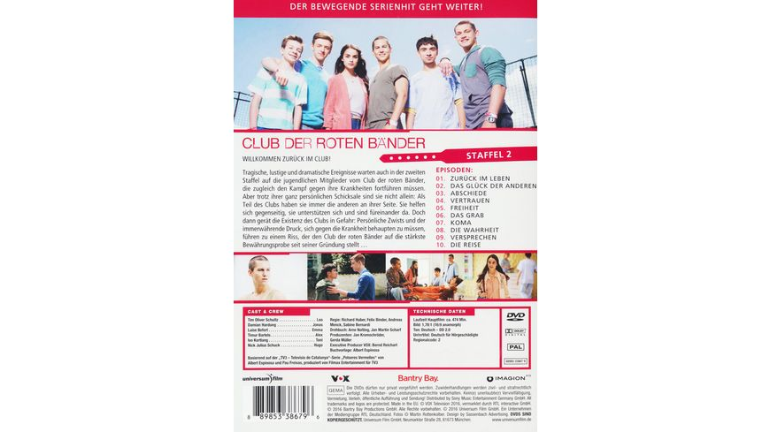 Club der roten Baender Staffel 2 3 DVDs