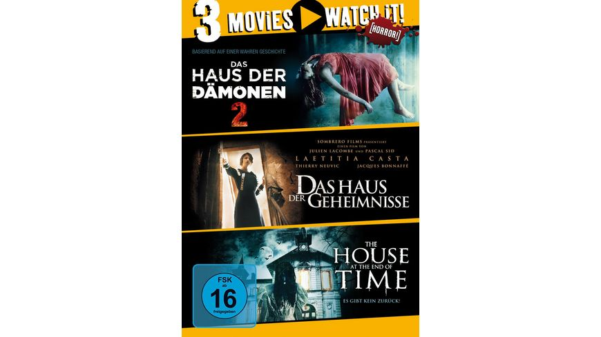 Das Haus der Daemonen 2 The House at the End of Time Das Haus der Geheimnisse 3 DVDs