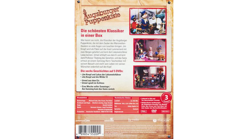 Augsburger Puppenkiste Klassiker Kollektion 5 DVDs