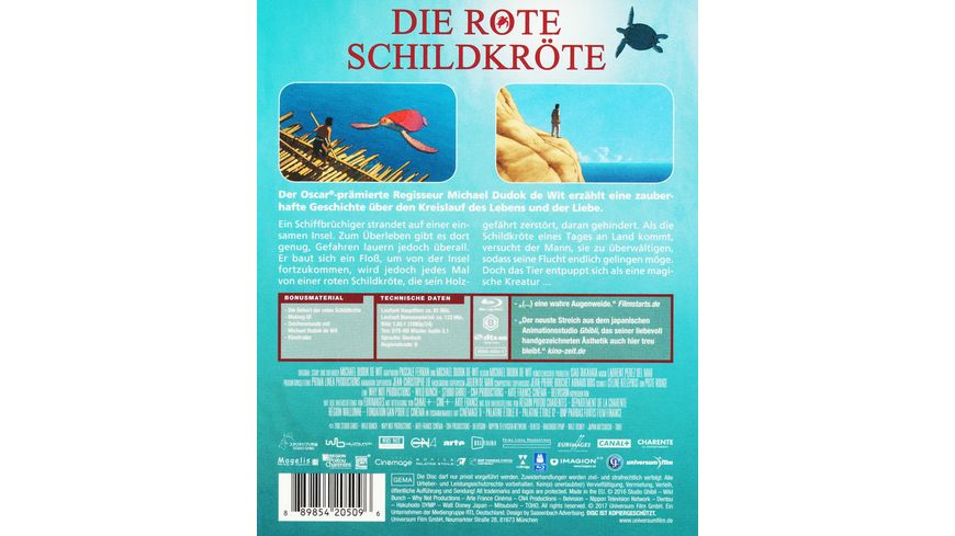 Die rote Schildkroete Studio Ghibli Blu ray Collection