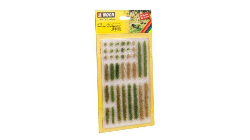 NOCH 07125 - Grasstreifen hell- und dunkelgrün, 6 mm, 36 Stück
