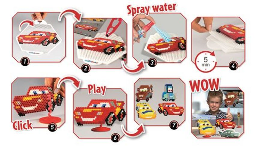 CRAZE SPLASH BEADYS Mega Creation Set Cars