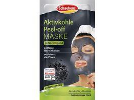 Schaebens Aktivkohle Peel off Maske 2 x 8 ml