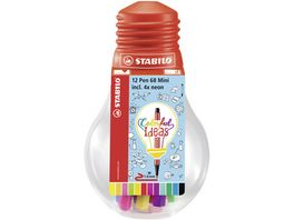 STABILO Fineliner point 68 Mini Colorful Ideas 12er Set in Gluehbirne