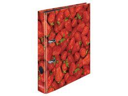 herlitz Motiv Ordner A4 Erdbeere schmal