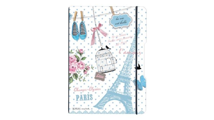 herlitz my book flex Notizheft PP A4 Paris liniert kariert