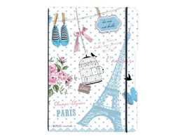 my book flex Notizheft PP A4 Paris liniert kariert