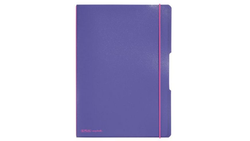 herlitz Notizheft flex A4 violett