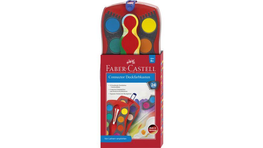 FABER CASTELL Farbkasten Connector 24 Farben