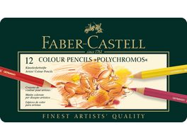 FABER CASTELL Buntstifte Polychromos 12er Metalletui