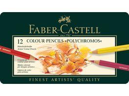 FABER CASTELL Farbstift Polychromos 12er Metalletui