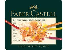 FABER CASTELL Buntstifte Polychromos 24er Metalletui