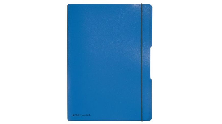 herlitz my book flex Notizheft PP A4 blau liniert kariert