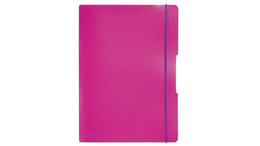herlitz Notizheft flex A4 pink