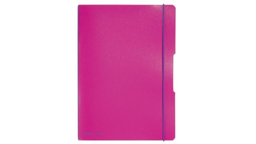 my book flex Notizheft PP A4 pink liniert kariert