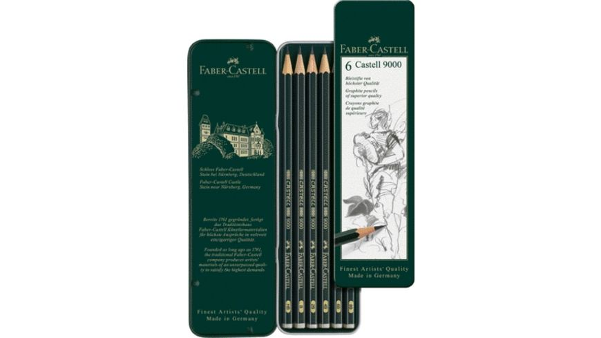 FABER CASTELL Bleistift 9000 6er Pack