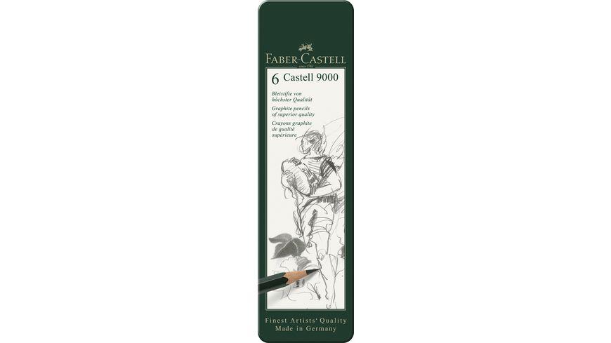 FABER-CASTELL Bleistift Castell 9000 6er Etui