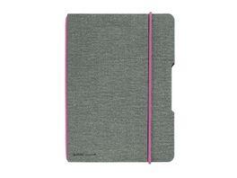 my book flex Notizheft A4 Leinen grau