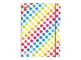 my book flex Notizheft PP Smiley World Rainbow liniert kariert