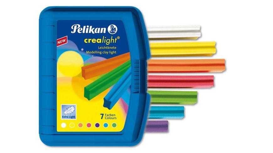 Pelikan Leichtknete crealight 7 Farben in blauer Box