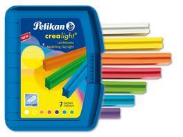 Pelikan Wachsknete Krealight 7 Farben in blauer Box